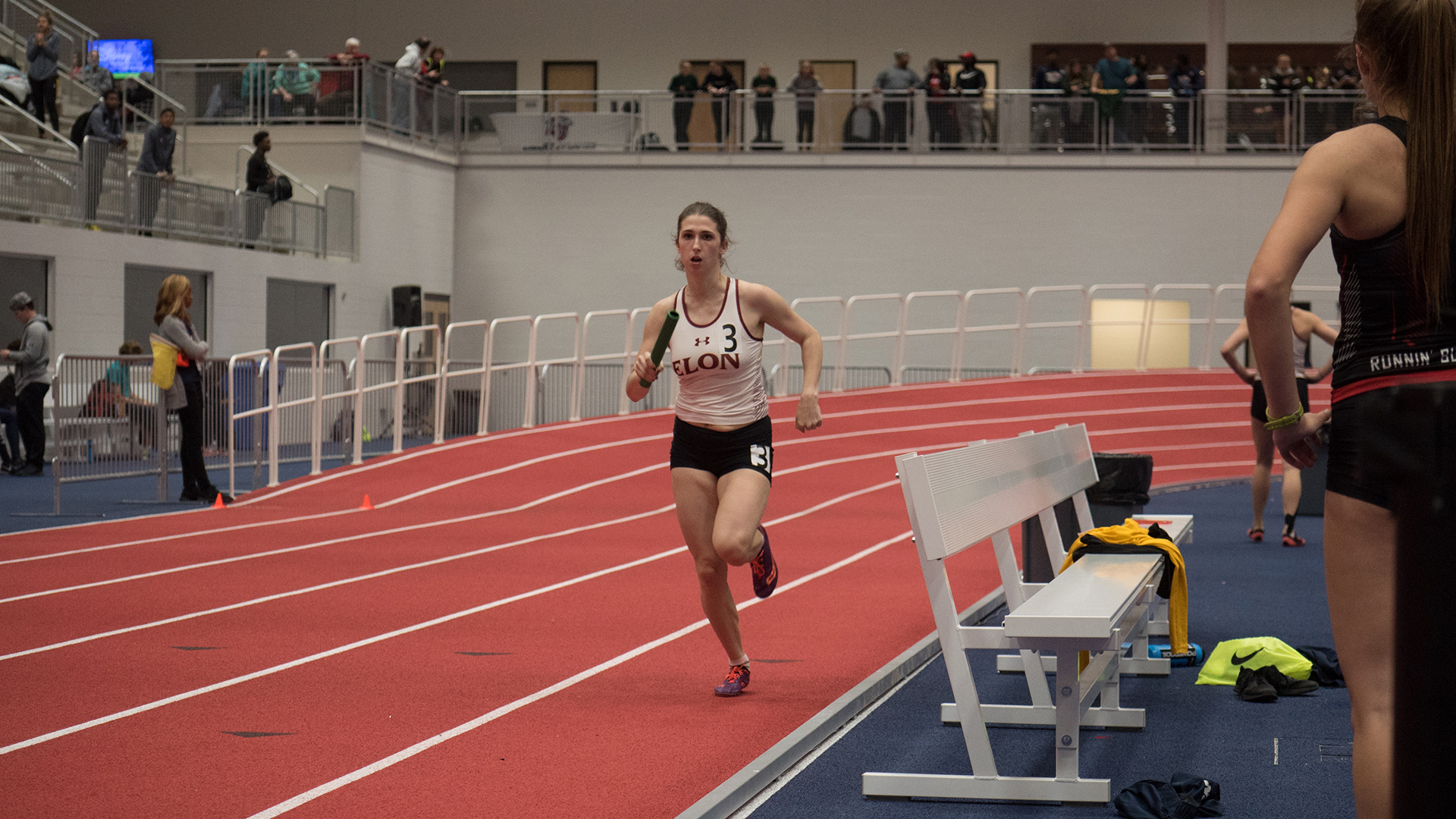 Natacha Savioz in the relay at the Liberty Kickoff